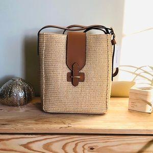 BANANA REPUBLIC Gorgeous Beige Woven Shoulder Bag